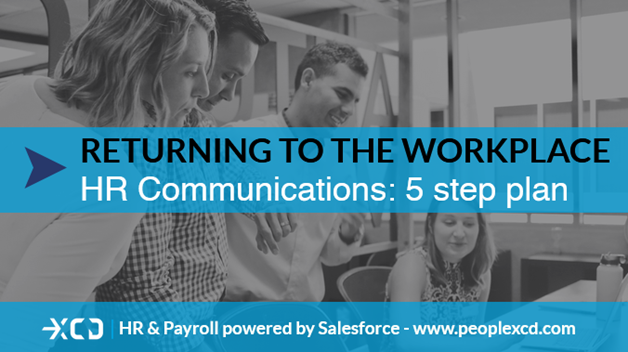 Returning to work post-Covid, a five step plan for HR comms planning